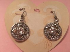 Brighton Earrings Ducale Disc Silver Crystals French Wire Hook NWT 58.00  | eBay