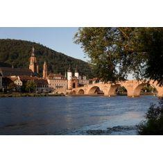 Fototapete von Heidelberg, Neckartal, Heiliggeistkirche und Alte Brücke, Merian, Fotograf: A. F. Selbach