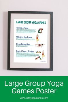 Can you imagine a large group of preschoolers all focused and engaged in yoga poses? Enjoy this list of yoga games to do with large groups of kids! Kids Yoga Poses, Yoga For Kids, Mindfulness For Kids, Mindfulness Activities, Yoga Games, Pe Games, Physical Fitness Program, Childrens Yoga, Yoga Books