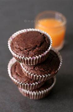 Gluten free, nut free, lactose free – Cocoa Orange Cup Cakes