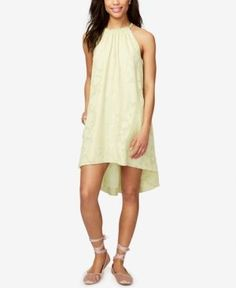 Rachel Rachel Roy Jacqueline Cotton High-Low Shift Dress, Only at Macy's - Yellow XXL