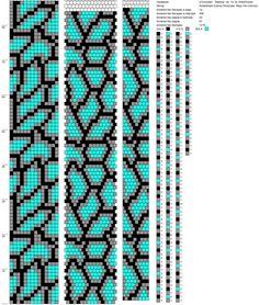 14 around tubular bead crochet rope pattern using only 3 colours of beads Bead Crochet Patterns, Bead Crochet Rope, Peyote Patterns, Beading Patterns, Beaded Crochet, Beading Tutorials, Crochet Beaded Bracelets, Bead Loom Bracelets, Beaded Bracelet Patterns
