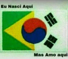 """Amo """"aqui"""", mas não 100%, kpopper, mas amando o Brasil. Bts Memes, Bts Meme Faces, Funny Memes, Seokjin, Hoseok, Namjoon, Bts Big Hit, Drama Memes, Bts Lyric"""