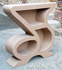 Martine Wood Crafts Furniture, Cardboard Furniture, Funky Furniture, Cardboard Cartons, Cardboard Paper, Cardboard Crafts, Cute Bedroom Decor, Diy Home Decor, Cnc Table