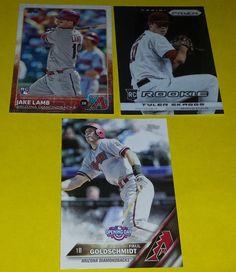 Arizona Diamondbacks 3 Baseball Card lot Paul Goldschmidt Jake Lamb Tyler Skaggs #ArizonaDiamondbacks