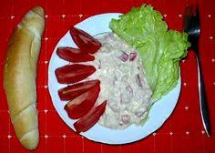 Hermelínový salát :: Domací kuchařka - vyzkoušené recepty Syr, Baked Potato, Salads, Potatoes, Treats, Baking, Ethnic Recipes, Sweet Like Candy, Bread Making