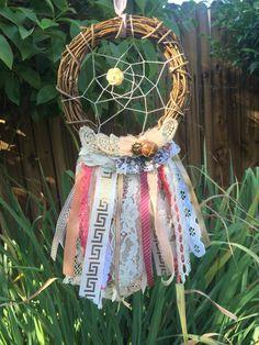 Dream Catcher Earthly Lace Boho Bohemian by MintCraftingCompany