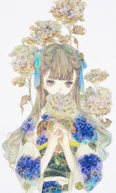 By Kanekiru/Kane maybe? Lolis Anime, Beautiful Anime Girl, Manga Pictures, Anime Art Girl, Anime Girls, Character Design Inspiration, Asian Art, Cute Art, Illustrations Posters