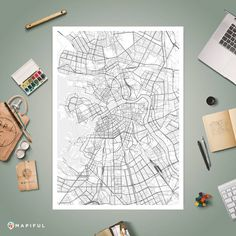 A map poster from Mapiful.com. A creative DIY tool to make your own map poster. This is 'Saint Petersburg'