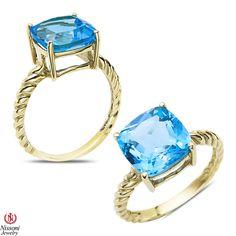 Ebay NissoniJewelry presents - Blue Topaz Fashion Ring 10k Yellow Gold    Model Number:CG-5034BTY0    http://www.ebay.com/itm/Blue-Topaz-Fashion-Ring-10k-Yellow-Gold/221630406289