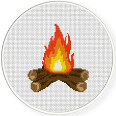 FREE for August 15th 2015 Only -  Bonfire Cross Stitch Pattern