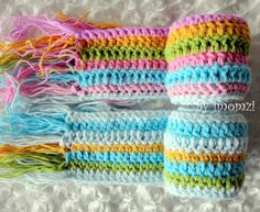 Kid Scarf Kids Scarf in Rainbow Colors for Toddler Girls. $18.00, via Etsy.
