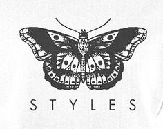 Image about one direction in Harry Styles by Little Ghost Harry Tattoos, Harry Styles Tattoos, Tattoo Drawings, Body Art Tattoos, Tatoos, Harry Styles Dibujo, Harry Styles Butterfly, Desenhos One Direction, Harry Styles Wallpaper