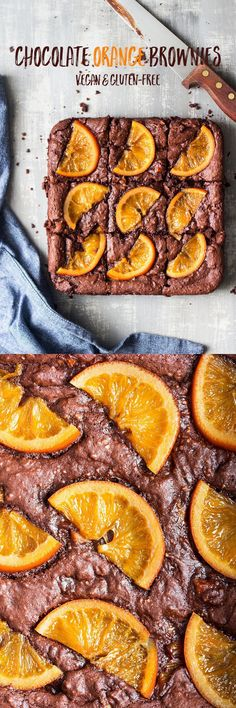 fudgy chocolate orange vegan brownies switch caster sugar with coconut sugar