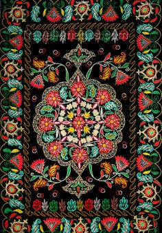 A nice examples of Azerbaijani embroidery - love the colours!