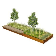 STREETLIFE Bento Tree Boxes. These tree boxes allow you to create attractive and natural landscapes while playing with seatings, trees, greenery and sizes