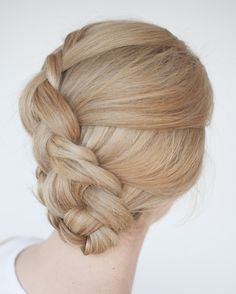 Braiding tip: Start by adding in larger sections to your braids. It's easier (as there are less sections to manage) and it makes for thicker looking braids too! I love doing these types of braids in wet hair too. There's a tutorial on my youtube channel for this style xx