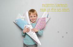 Pochettes surprises - Fête des Mères - Maman à tout Faire #fetedesmeres #mothersday #kidscraft Pochette Surprise, Lifestyle, Mothers, Fashion, Gift Boxes, Gift Ideas, Clutch Bags, The Sea, Mom