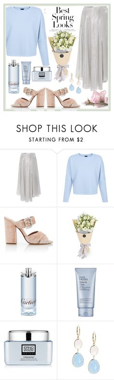"""""""Без названия #91"""" by ayuschkova ❤ liked on Polyvore featuring Sally Lapointe, Tabitha Simmons, H&M, Cartier, Estée Lauder, Erno Laszlo, Saks Fifth Avenue and pastelsweaters"""