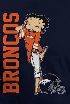 Betty Boop loves the Denver Broncos