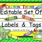 Gearing up for 'back to school' and all the new name tags, labels, desk plates and more?   Looking for a product that allows you to edit and personalize your tags?   The bold colors and fun 'color' theme that can be used all year long is sure to add a vibrant pop to your classroom this year!