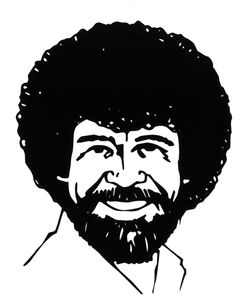 70499c35a With his distinct afro and easy going style, Bob makes learning to paint  easy! Find Bob Ross Art ...