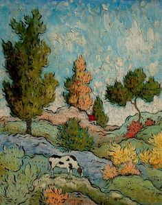 Photo by Mark Briscoe Impressionist Landscape, Landscape Paintings, Art And Illustration, Van Gogh Art, Van Gogh Paintings, Naive Art, Wassily Kandinsky, Monet, Acrylic Art
