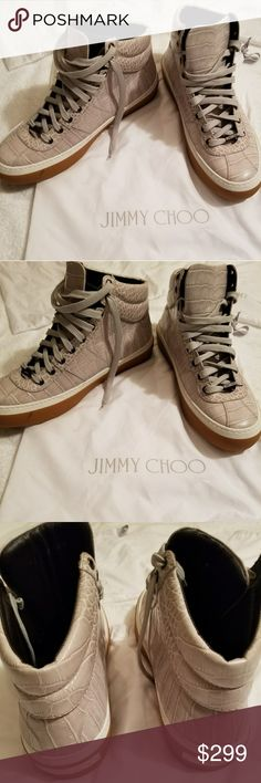 d16dd47eaa6 Spotted while shopping on Poshmark  Jimmy Choo Men s Belgravi Shiny Croc  Embossed Snea!