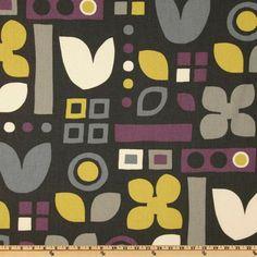 Robert Allen Habitat Plum - Discount Designer Fabric - Fabric.com