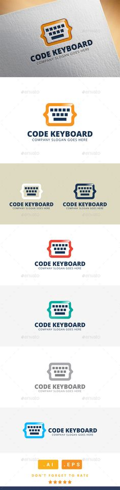 Code Keyboard Logo Artist Business Cards, Business Card Design, Coding Logo, Cv Inspiration, Rockets Logo, Service Logo, Creative Icon, Logo Design, Graphic Design