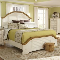 Coaster Oleta Queen Bed in Buttermilk/Brown Finish