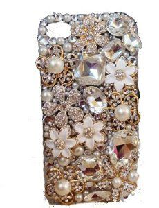 Amazon.com: NEW STYLE! IPHN5! Diamond Style Celebrity BLING 3d Handmade Crystal & Rhinestone Iphone 5 case/cover by Jersey Bling: Cell Phones & Accessories
