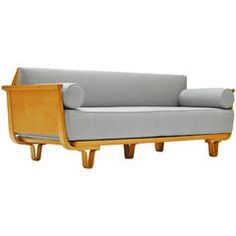 Rare Daybed or Sofa from the Birch Series by Cees Braakman for Pastoe, 1950