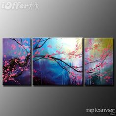 cherry blossom oil painting for the living room