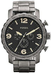 Fossil Nate Stainless Steel Watch Burnished Silver-Tone: Watches: Amazon.com