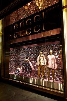 Gucci: AW14 Show Windows Creative: Chameleon Visual Production & Installation Gucci www.chameleonvisual.com