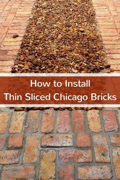 We will teach you  how to install thin sliced Chicago bricks. #mortonstones #rustic #modernhome #decor #interiordesign #interior #homeideas #accentwall #homeimprovement #diy #brick #installbricks #thinslicedchicagobricks