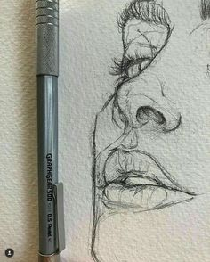 Love the rawness of ghis illustration sketches, drawing sketches, portrait sketches, sketch art Portrait Au Crayon, Pencil Portrait, Portrait Art, Portrait Sketches, Drawing Sketches, Drawing Tips, Drawing Ideas, Illustration Art Drawing, Sketch Ideas