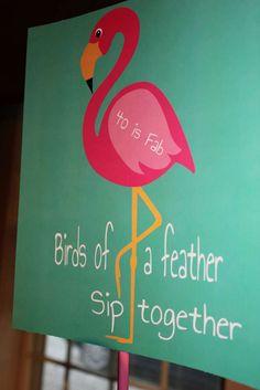 Flamingos, Feathers, Fabulous Birthday Party Ideas   Photo 4 of 26