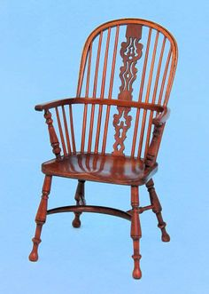 Double Bow High Back Elbow Chair
