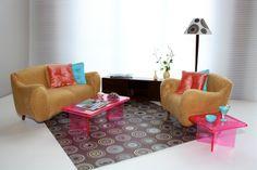 DIY Barbie furniture - upholstering plastic furniture