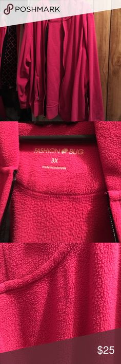 Pink Fashion Bug Jacket - 3XL Like new- super cute and warm! Size 3XL. Fashion Bug is the brand. Jackets & Coats