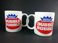 Coffee Cup Dubble Bubble Logo Advertisement America's Original Gum Lot Of 2 | Collectibles, Advertising, Food & Beverage | eBay!