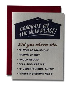 Congrats on the New Place Card