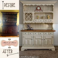The hutch makeover turned out really well, I must say. What a difference to how it looked before! I really like it, what do you think?