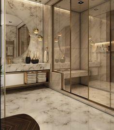 Washroom Design, Bathroom Design Luxury, Luxury Interior Design, Modern Interior, Luxury Bathrooms, Luxury Decor, Dream Bathrooms, Interior Ideas, Home Room Design