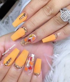 These fabulous nail art designs are super unique and glamorous, these will give . These fabulous nail art designs are super unique and glamorous, these will give you the trendy looks and give your nails a whole new. Acrylic Nail Designs Coffin, Fall Acrylic Nails, Halloween Acrylic Nails, Coffin Nail, Autumn Nails, Fall Nail Art Designs, Thanksgiving Nails, Luxury Nails, Hot Nails