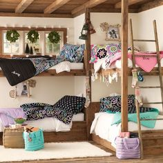 PB Teen, I do like you...but I'm actually pinning this pic because I love the built-in bunk beds :)