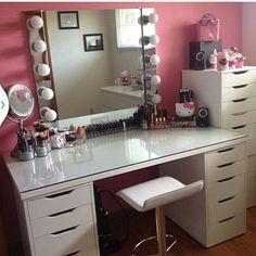 Makeup Vanity Ikea. Statuette of Newest Selections Makeup Vanity Chair 13 Fun DIY Organizer Ideas For Proper Storage  Ikea desk