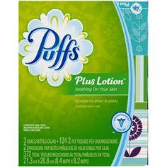 Puffs Plus Lotion Facial Tissues; 3 Family Boxes; 124 Tissues per Box $4.97